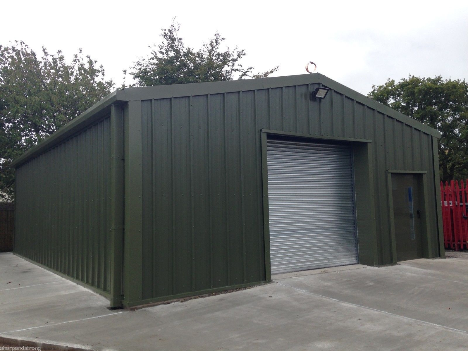 Industrial Steel Storage Building To House A Tractor In A Blewbury Colour  Is Olive Green With A Single Skin Cladding Including Anti Condensation Lu2026