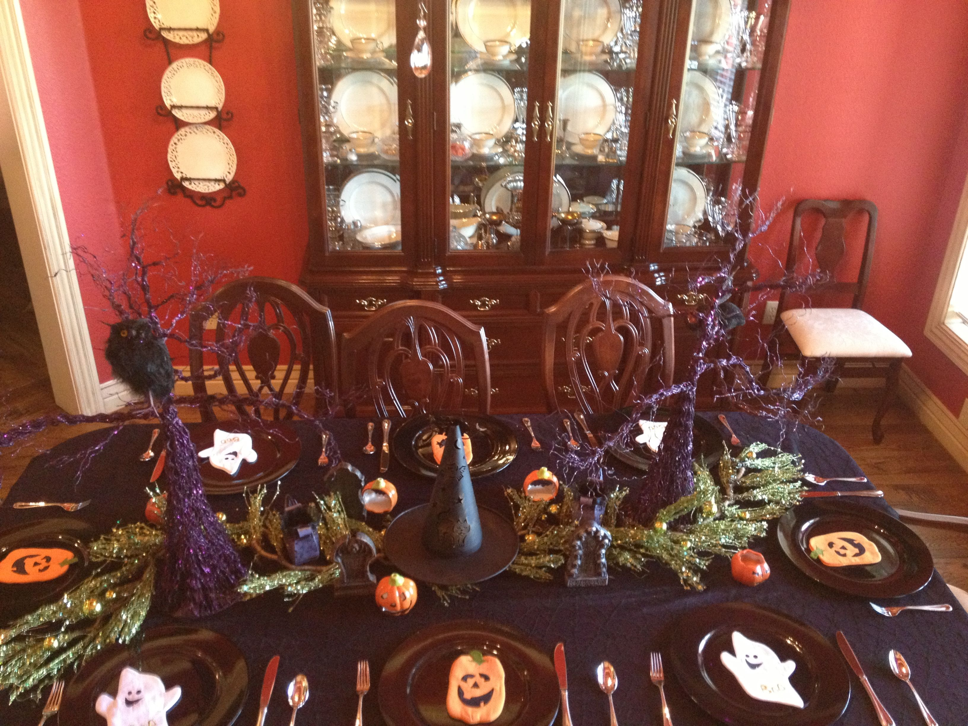 Nana\u0027s Halloween table decorations Holiday fun Pinterest - Halloween Table Decorations Pinterest