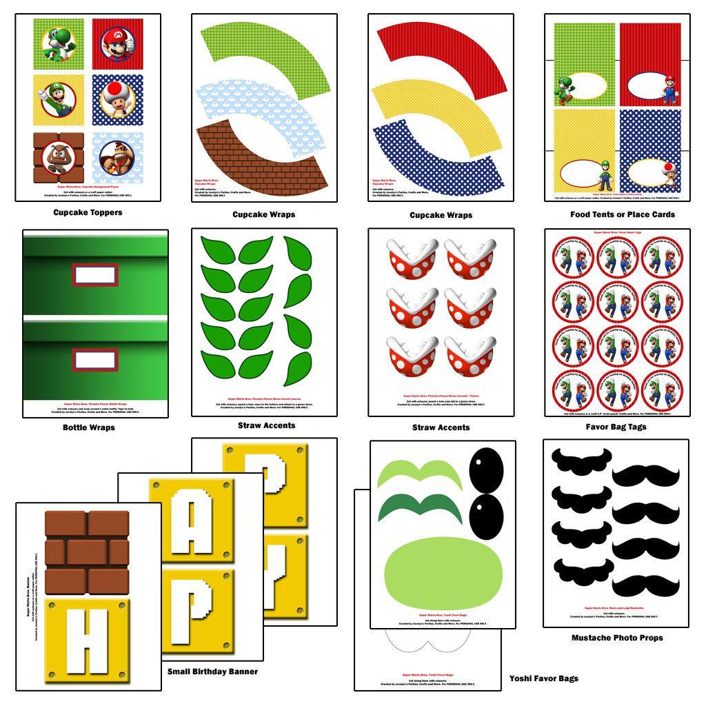 Super Mario Bros. Party - Birthday - Super Mario Bros. Inspired DIY ...