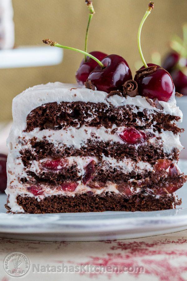 Drunken Cherry Chocolate Cake-7-3