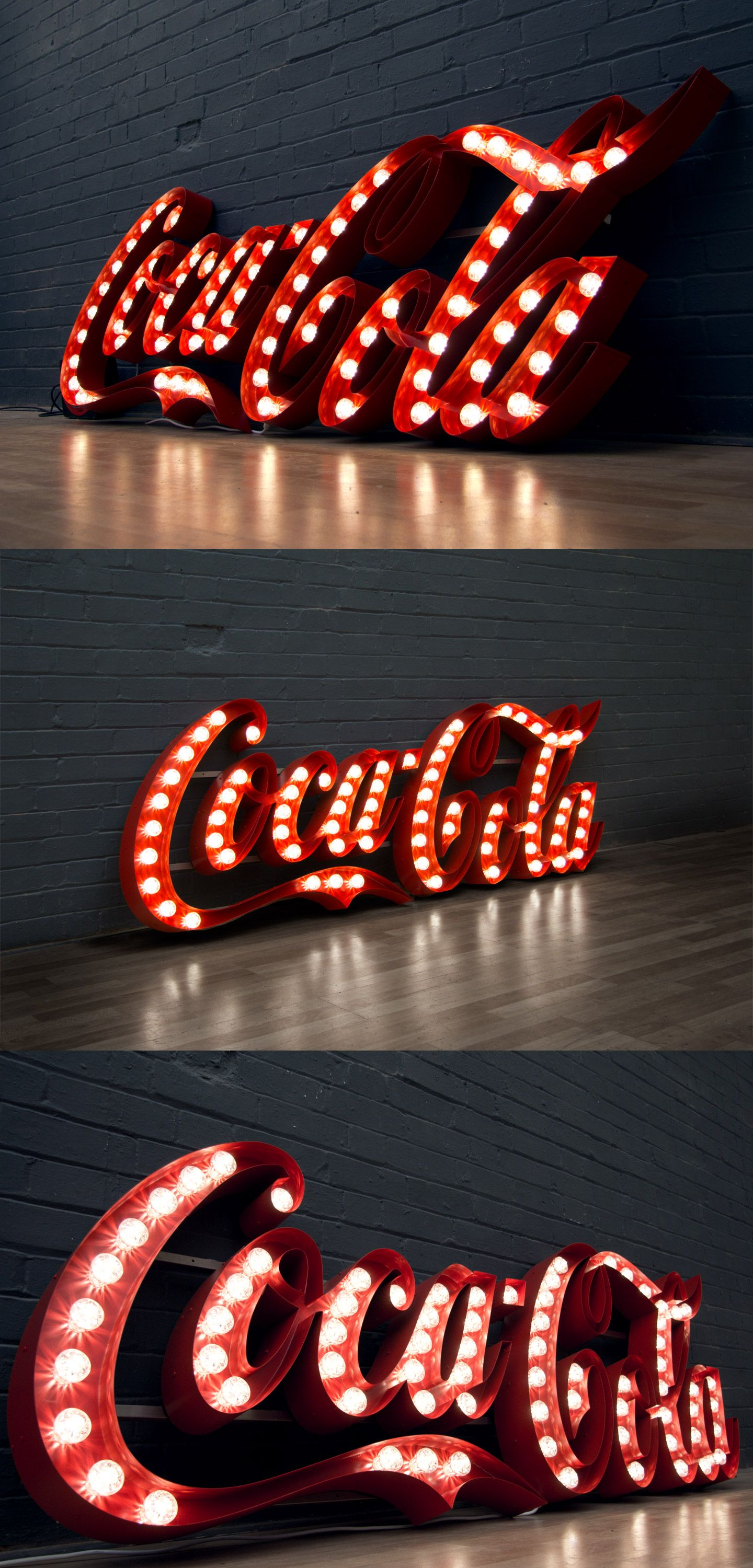 fairground inspired bulb sign for coca cola by goodwin. Black Bedroom Furniture Sets. Home Design Ideas