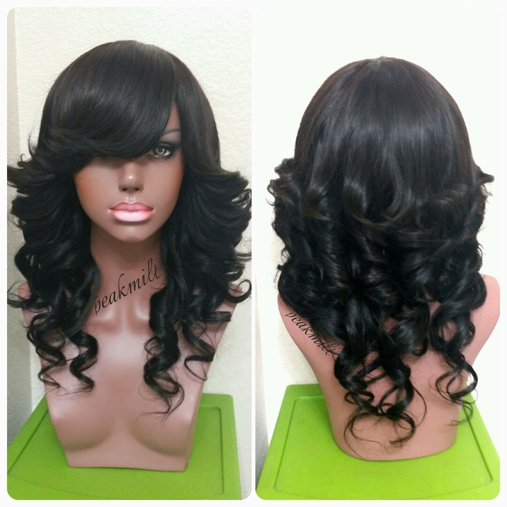 Hairstyles Without Weave Full Wig With Deep Side Or Chinese Bangno Lace Closure Frontal