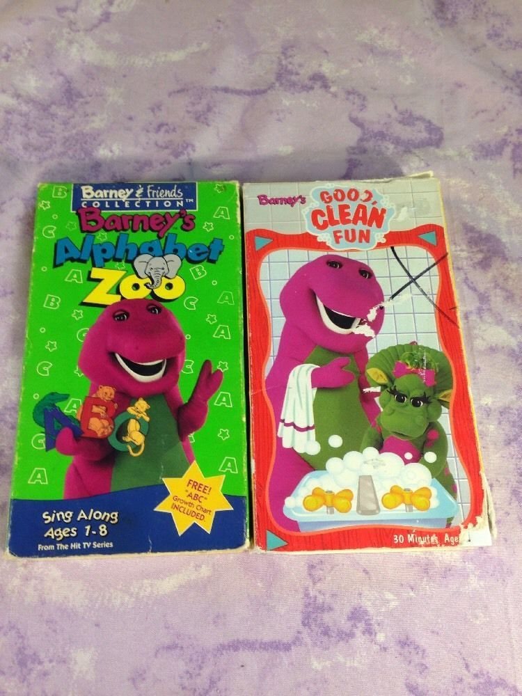 Barney Vhs Lot Alphabet Zoo Good Clean Fun Best Cleaning Products Barney Fun