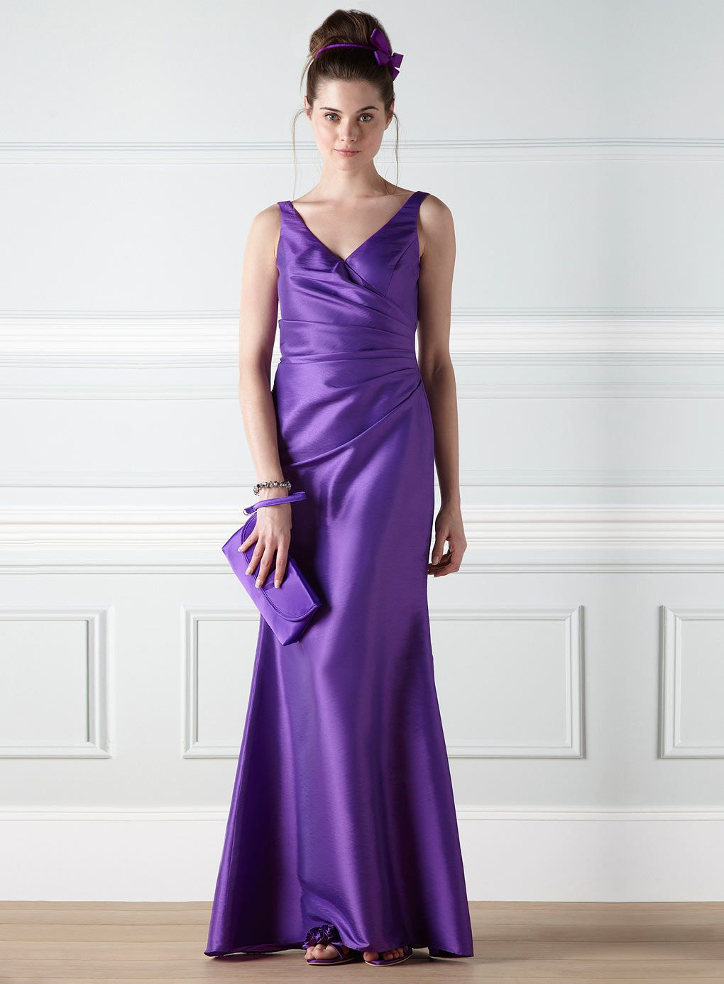 purple-bridesmaid-dress-and-shoes-1-2 | Purple Bridesmaid Dress ...