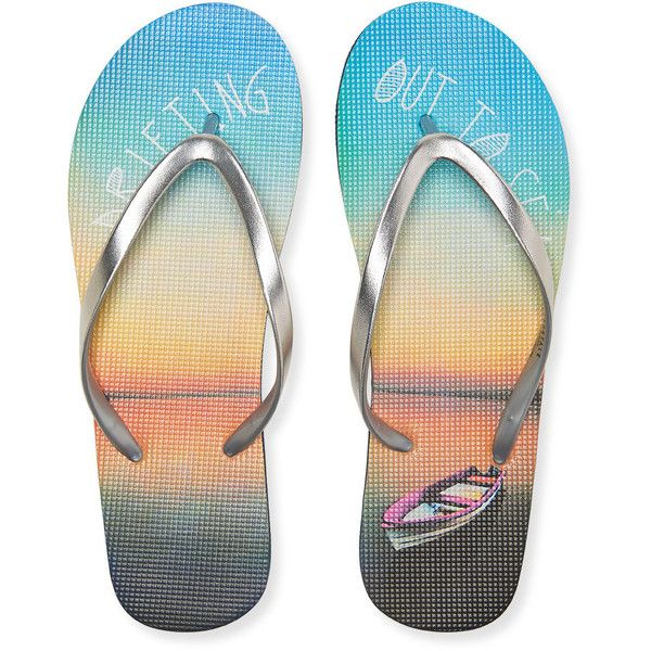fbcc87327 Aeropostale Drifting Flip-Flop ( 4) ❤ liked on Polyvore featuring shoes