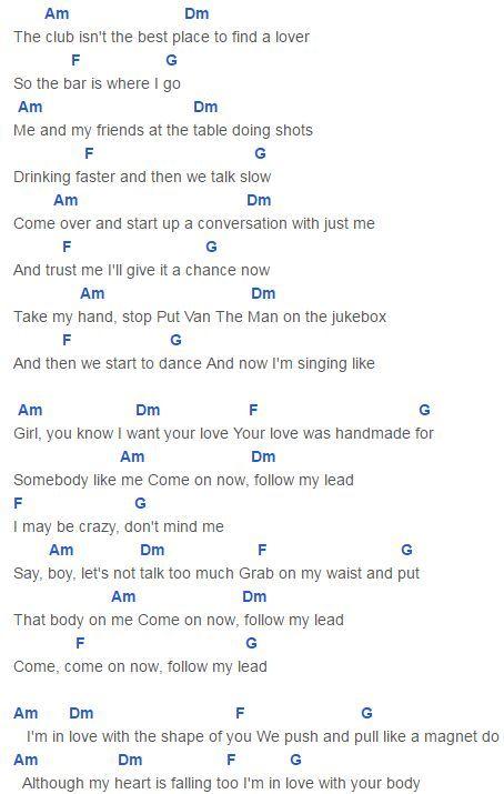 best Photograph Ed Sheeran Easy Lyrics And Guitar Chords image ...