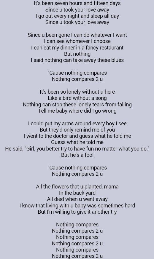 Nothing could take you away from me lyrics