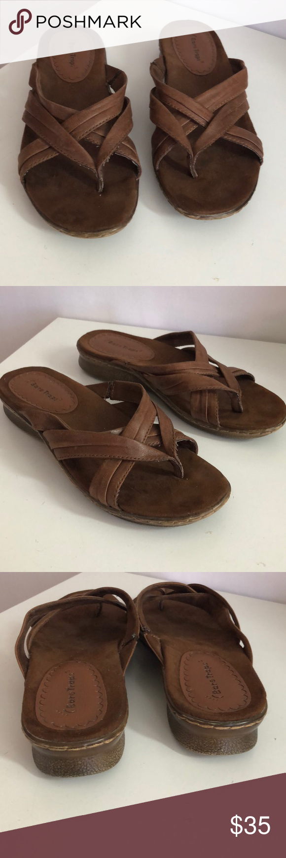 5a616fe24d13 Bare Traps Leather sandals Pre-owned like new bear traps Sandals brown  Leather size 8 please ask if you have any additional questions BareTraps  Shoes ...