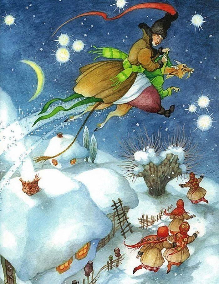 Картинки к рассказу гоголя ночь перед рождеством