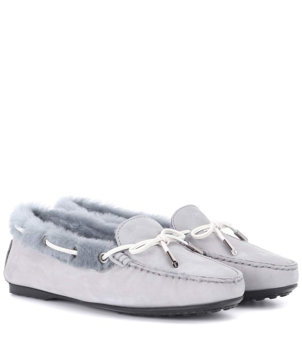Tod's Gommino fur-lined suede loafers brand new unisex sale online online cheap AhedkBu