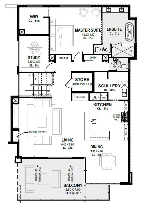 Ergo Upside Down Perth Home Design For 17m Lot Novus House Plans Australia Upside Down House Narrow Lot House Plans