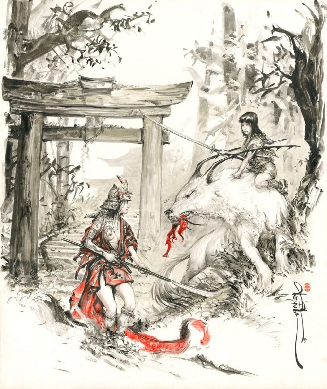 "Commission ""Guardians of the Tori"" par Saverio Tenuta - Illustration"