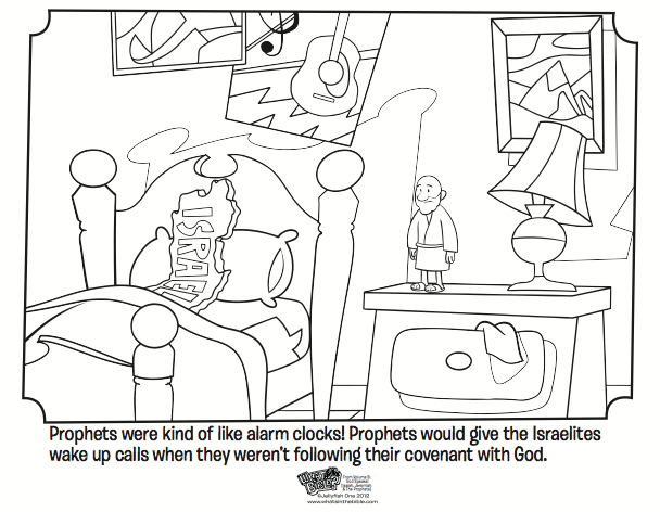 Kids Coloring Page From Whats In The Bible Showing How Prophets Were Kind Of Like