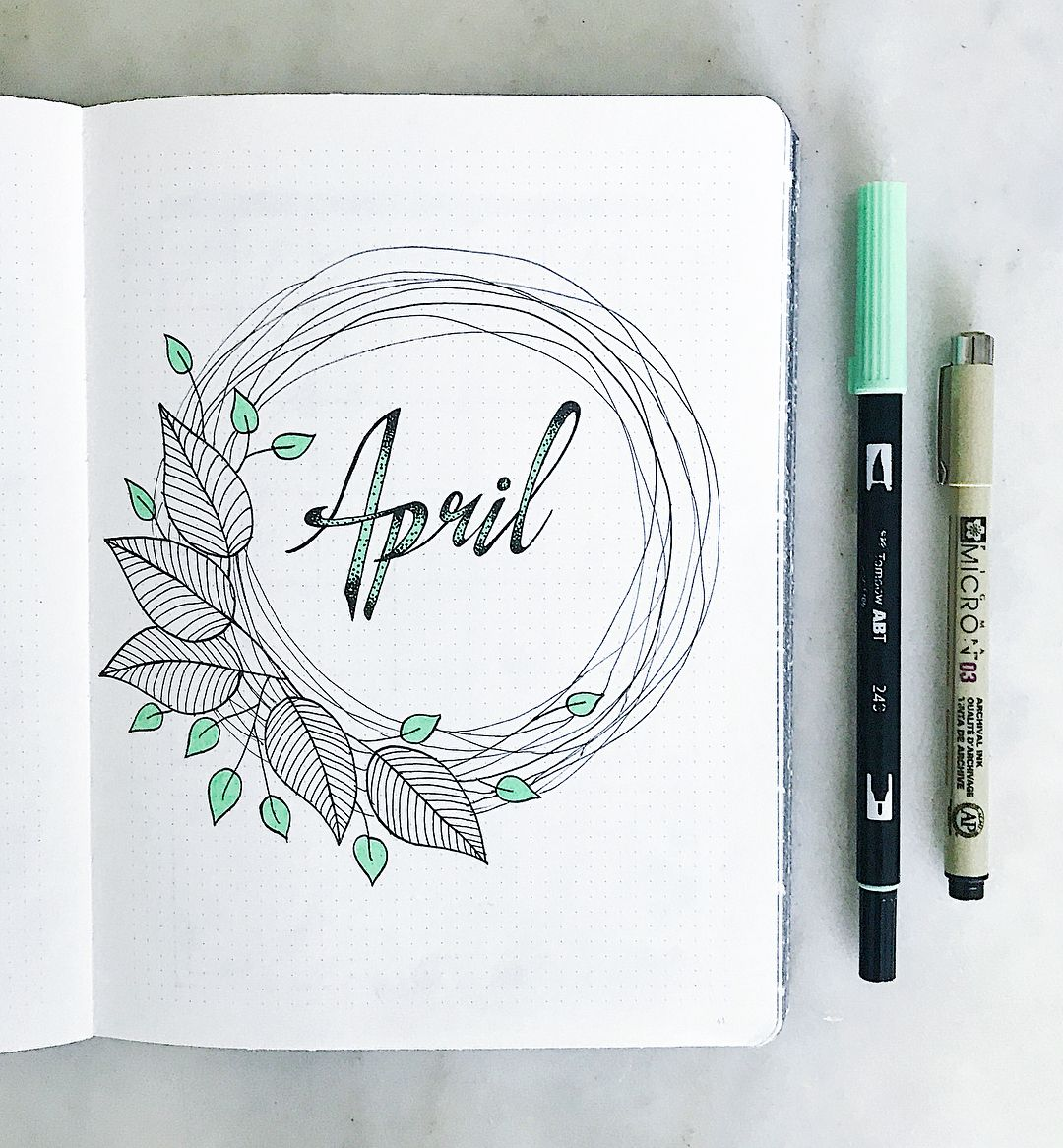 best mint bullet journal spreads from may my inner creative