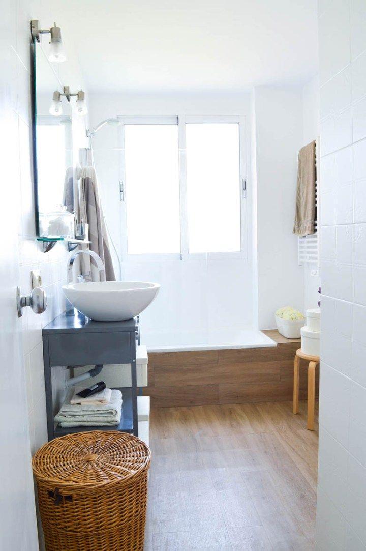Antes/después – Cuarto de baño nórdico | Antes después, Baldosa y ...