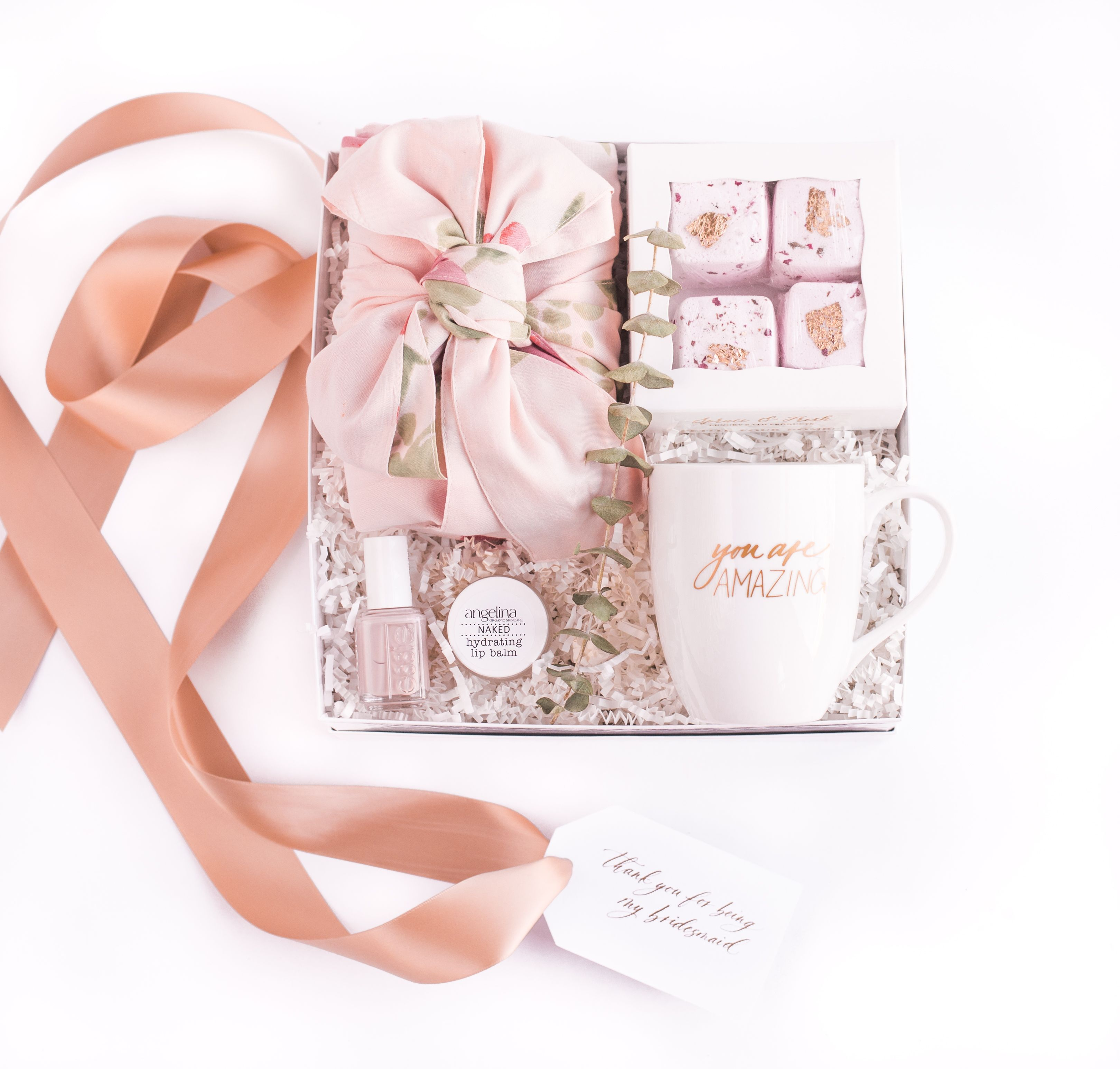"""Marigold & Grey Reveals 2017 """"Thank You for Being my Bridesmaid"""" Curated Gift Box Designs"""