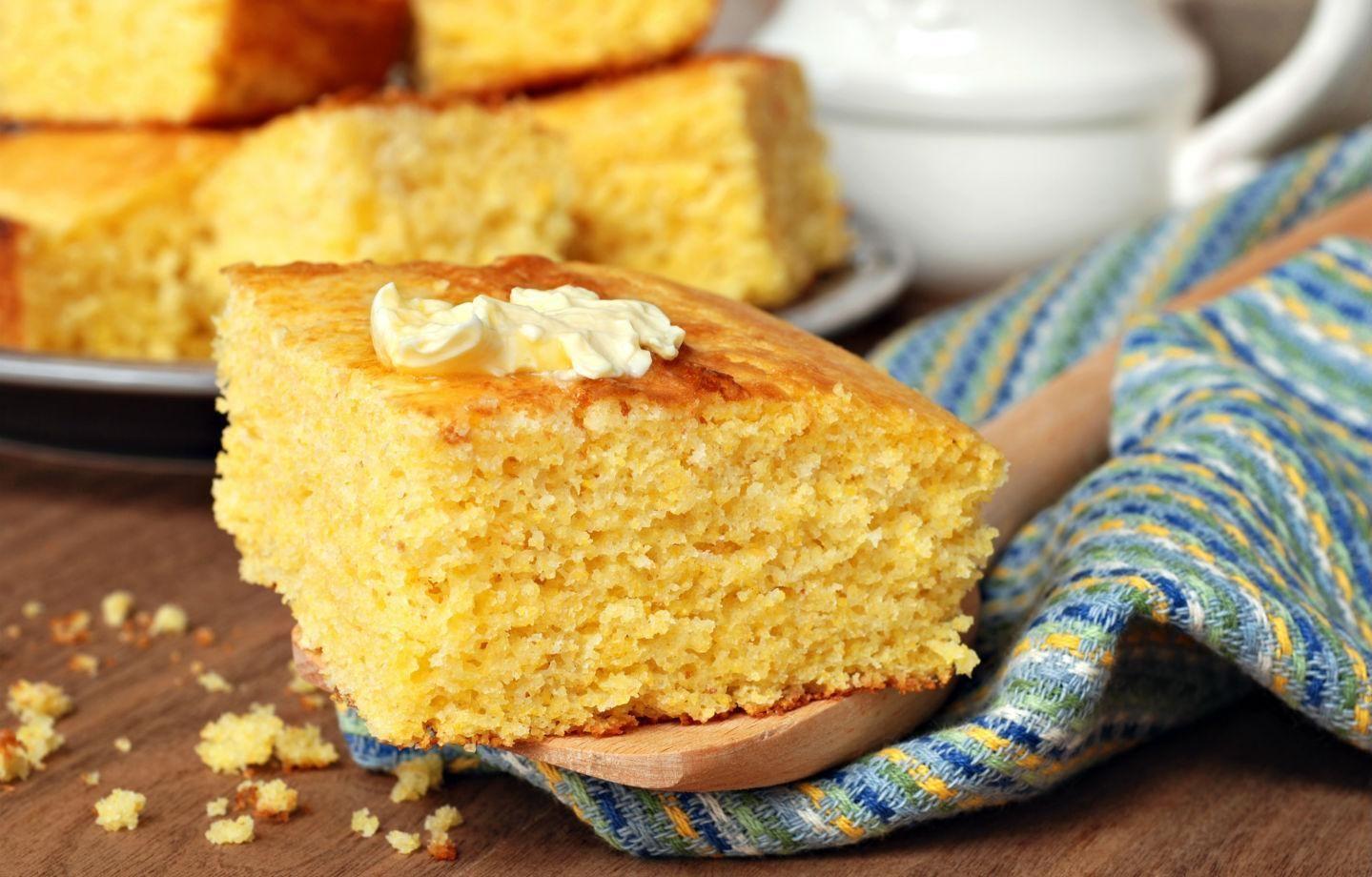 Fluffy Maple Syrup Cornbread Recipe Food Corn Bread Recipe