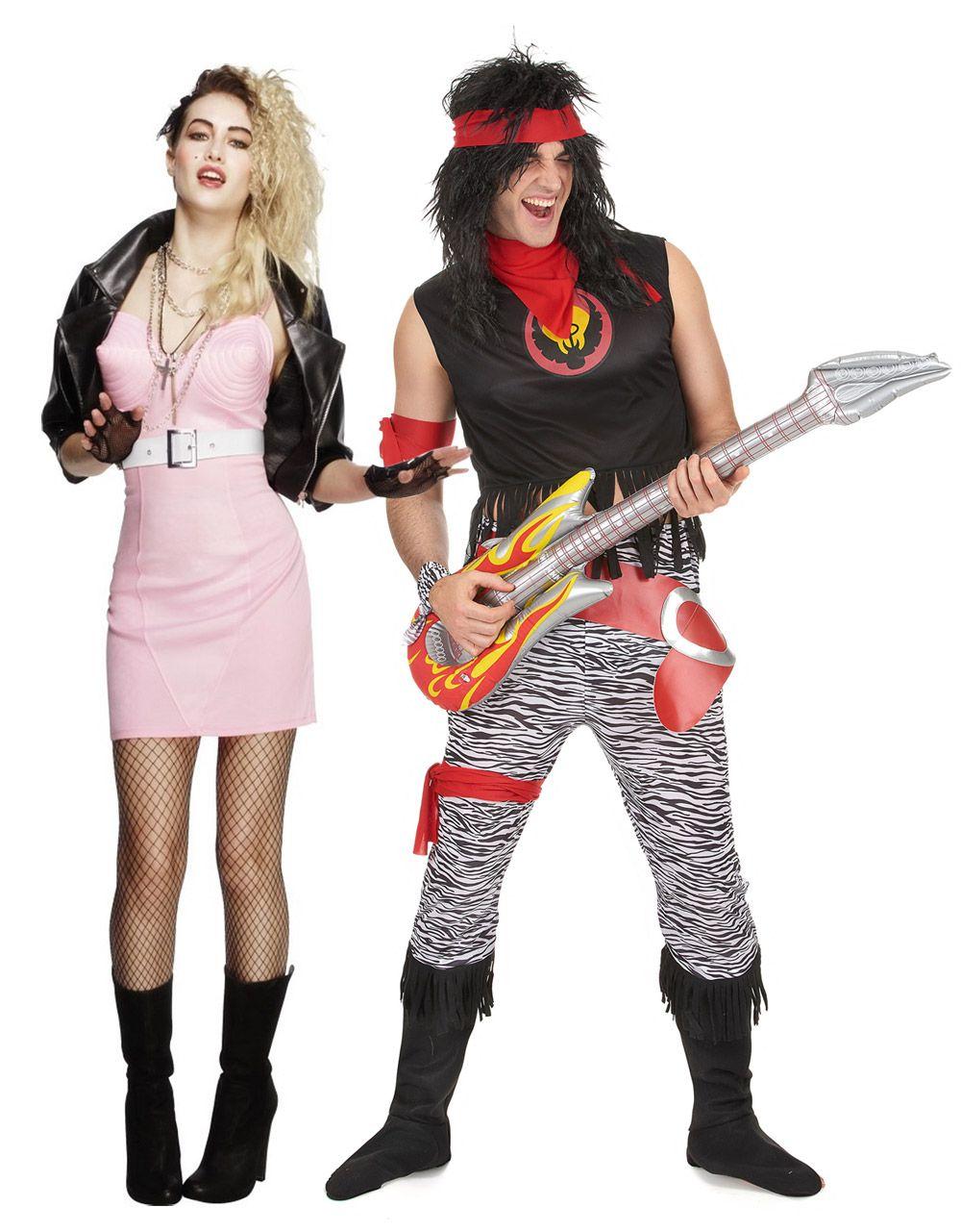 7575fe2c53 Déguisement de couple rocker rétro adulte : Déguisement rock star hommeCe  déguisement de rock star pour