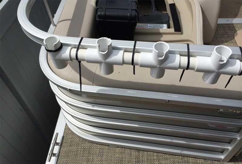 Homemade Rod Holders For Pontoon Boats Pontoon Boat Accessories Fishing Pontoon Fishing Pontoon Boats