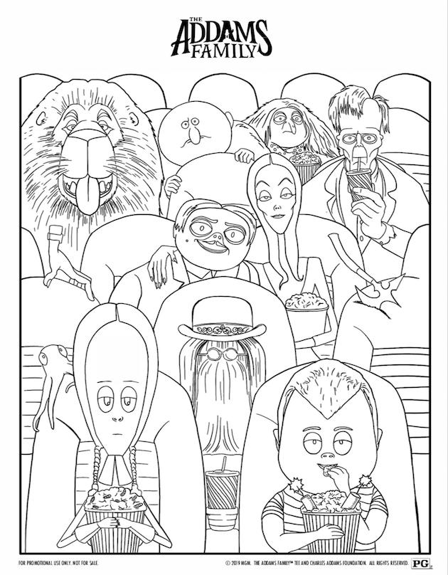 The Addams Family Movie Night And Printables In 2020 Addams Family Movie Addams Family Characters Family Movies