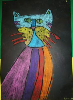 Art with Mrs Baker: Soft Pastel Cats Variation-might let kids pick ...