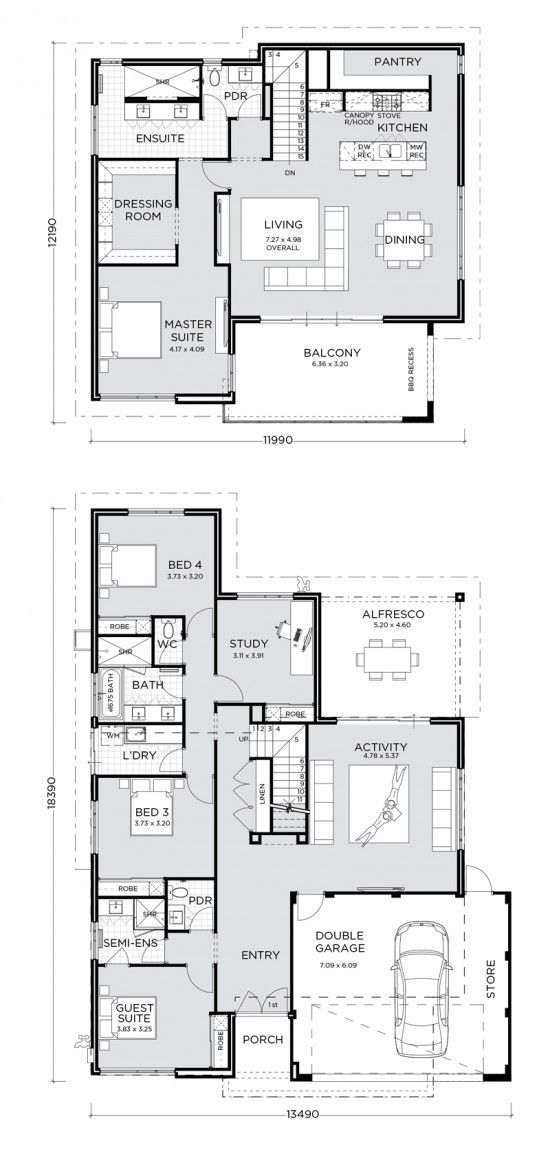 The Nautica Is Reverse Style Living At Its Best Step Through The Front Entry And Immediately You Wi House Plans Australia House Plans South Africa Floor Plans