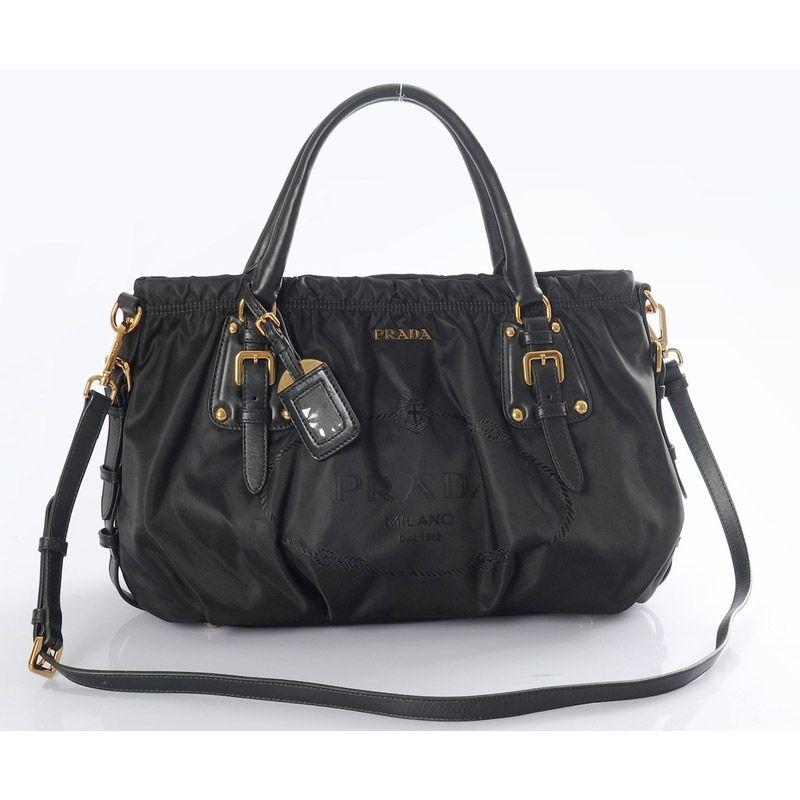 Sale Prada Nylon Handbag Br4259 In Nero Outlet Firenze Price: $221.00. Prada  Tote ...