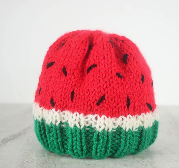 Baby Watermelon Hat Knitting Pattern | Gorros crochet, Gorros y Bebé