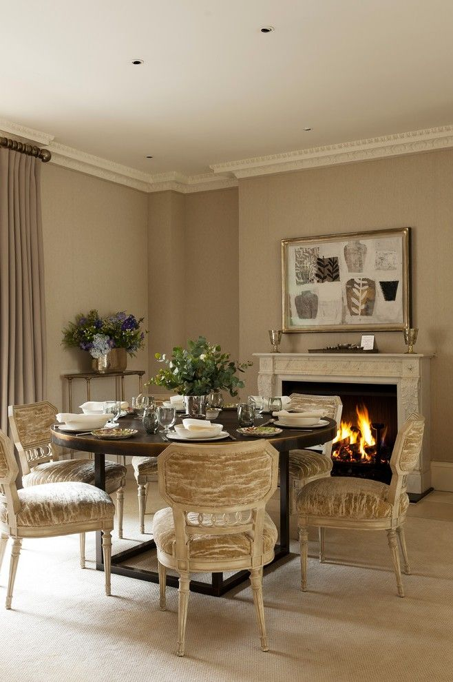 Beautiful Dining Room Paint Colors with Floral Arrangement Area