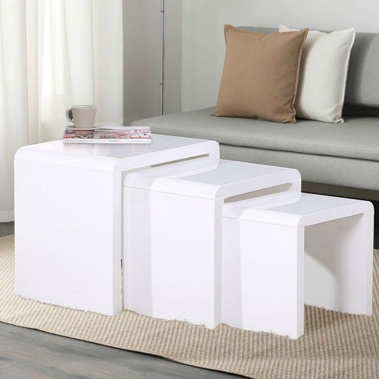 Coffee table white top quality wood home decor rooms decoration free