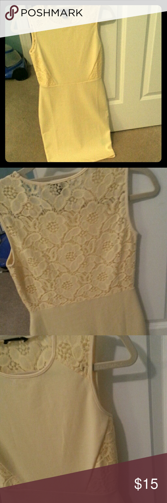 H&m yellow lace dress  Yellow Dress with Lace Back  Yellow dress Minis and Customer support