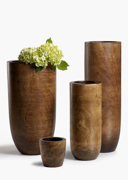 Mango Wood Vases Our Vases Pinterest Woods Flower And Plants