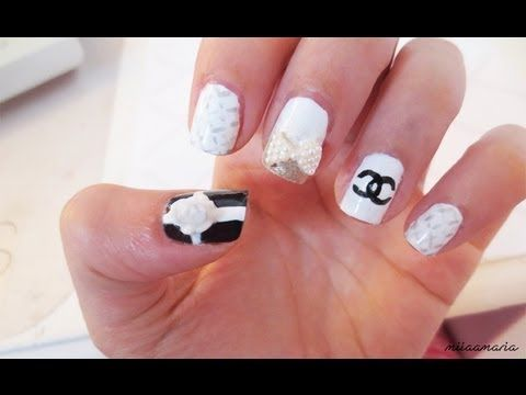 Chanel nail tutorial nails pinterest chanel nails chanel chanel nail tutorial prinsesfo Image collections