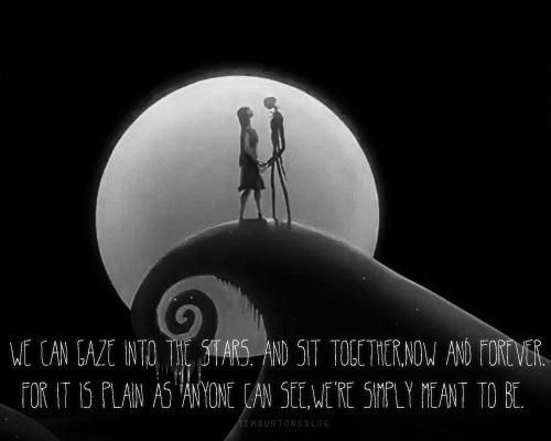 Classic Disney Movie Quotes | Nightmare Before Christmas Jack And Sally  Love Quotes