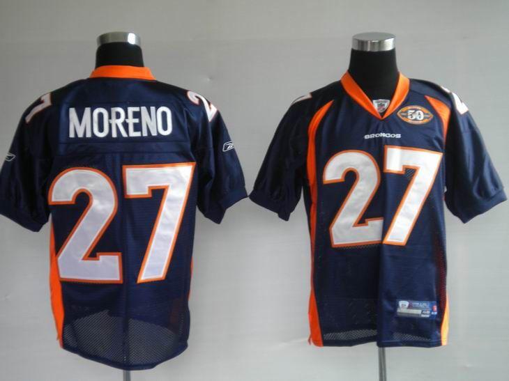 new style dbc8b 14d41 50Th Reebok NFL Jersey Denver Broncos Knowshon Moreno #27 ...
