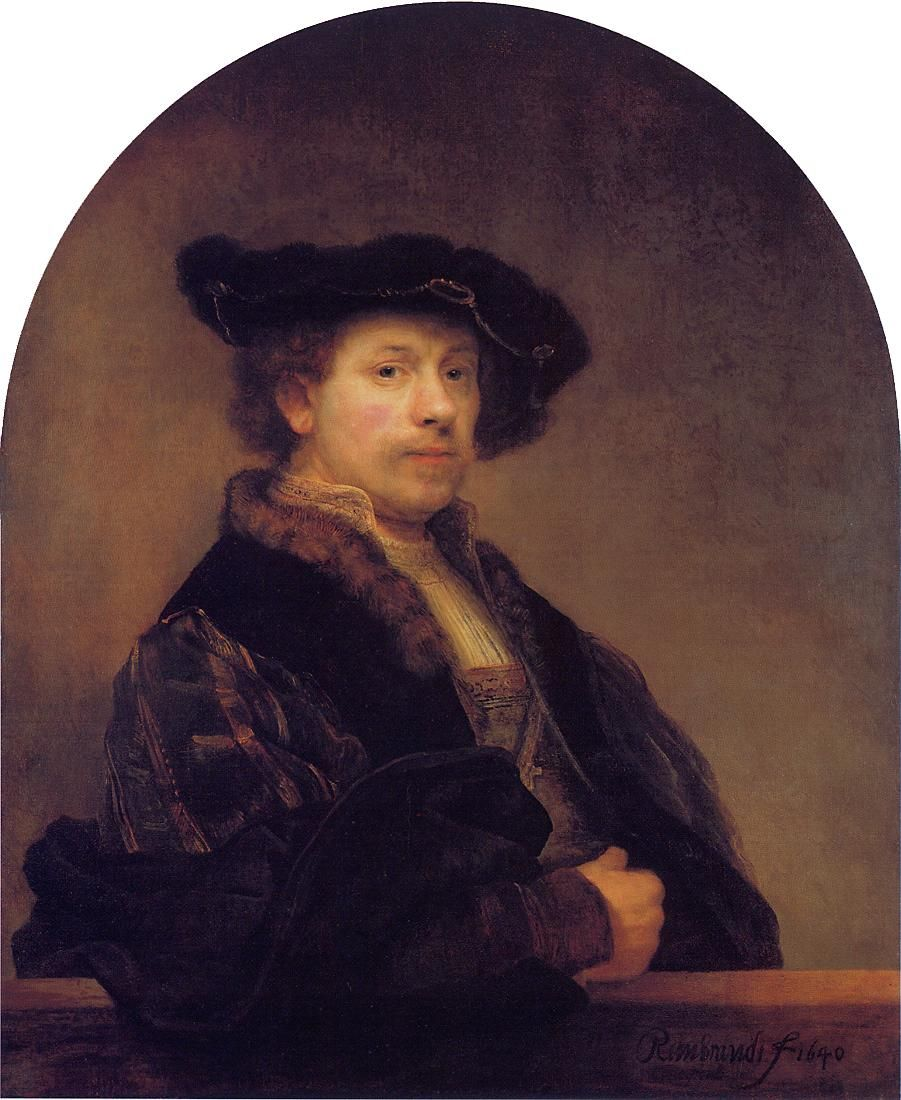 Self Portrait at the Age of 34 1640, Rembrandt