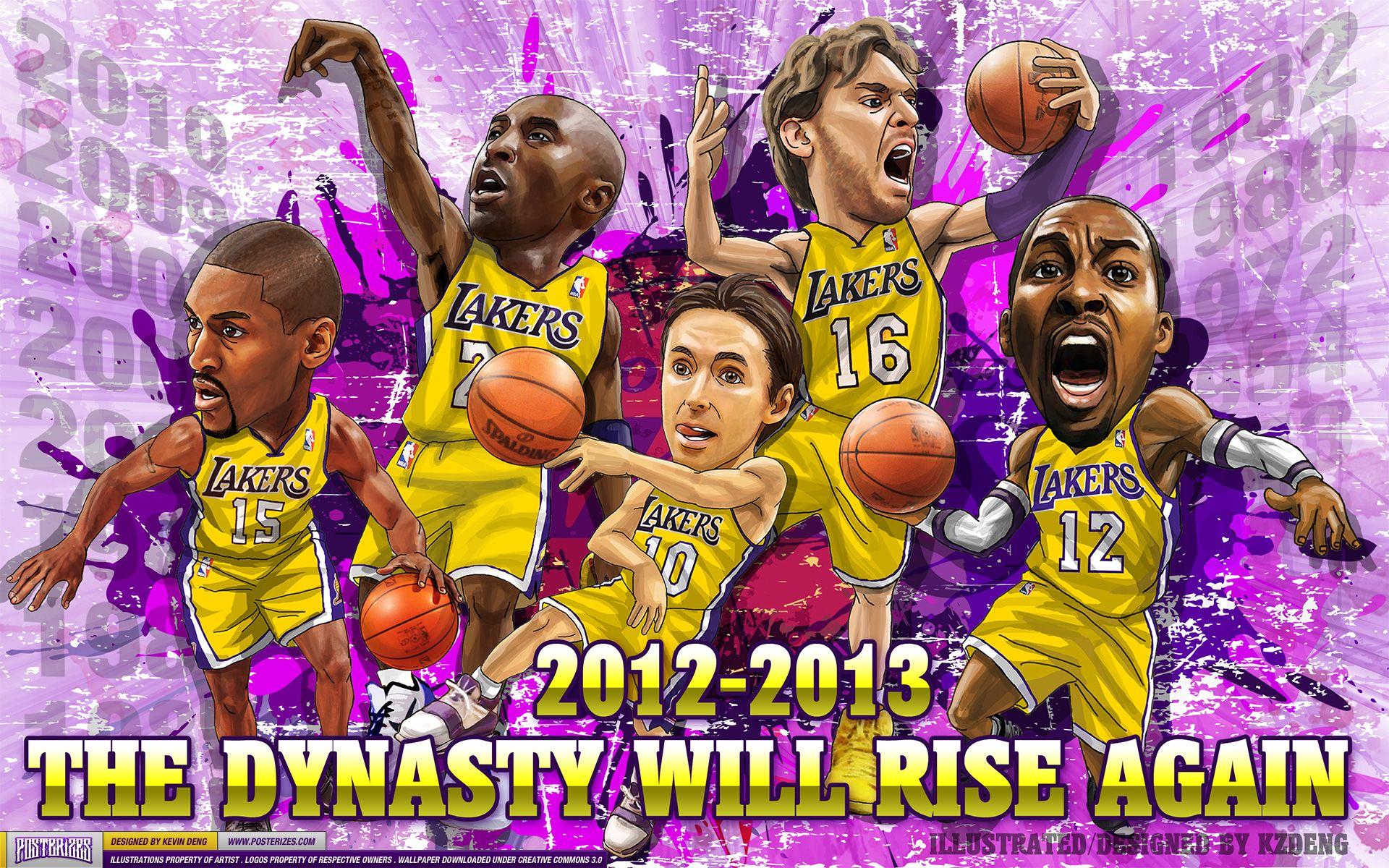 La Lakers Los Angeles Lakers 2012 2013 Dynasty Wallpaper Lakers Team Los Angeles Lakers Lakers Vs
