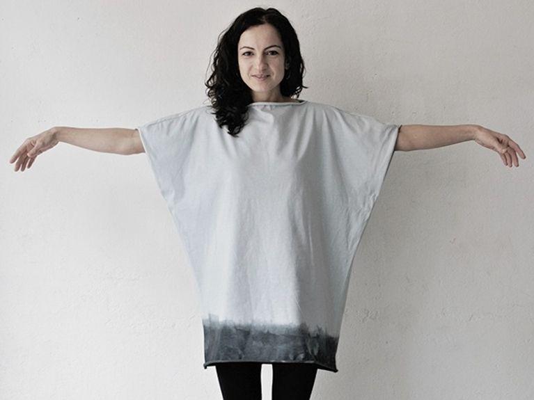 Do It Yourself: Dip-Dye-Oversize-T-Shirt selber machen. DIY-Anleitung via DaWanda.com
