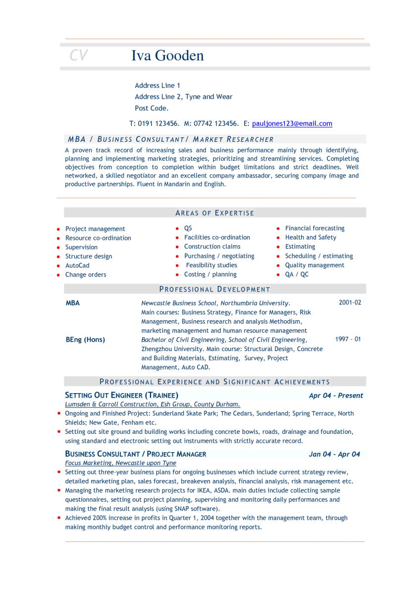 11 mba resume sample zm sample resumes - Sample Mba Resume
