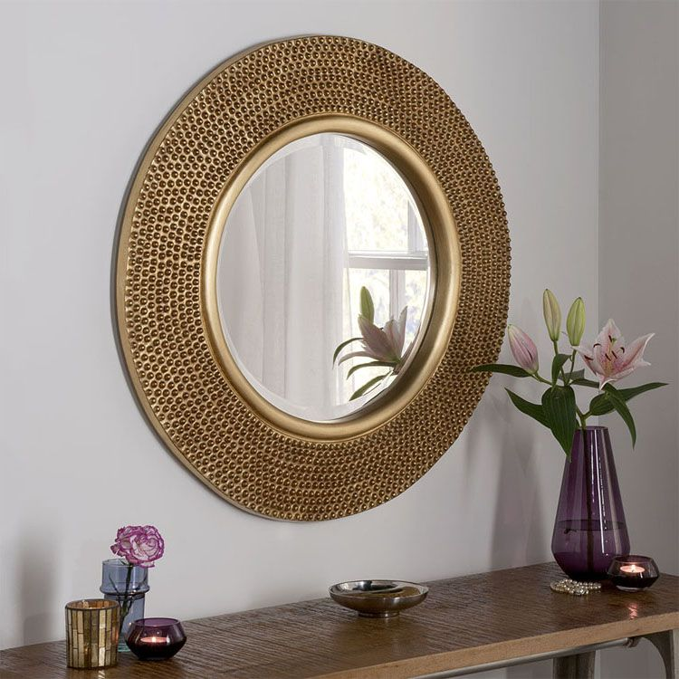 gold round wall mirror 79cm in 2020 large round wall on wall mirrors id=38504