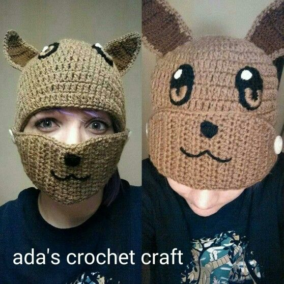 Eevee pokemon hat | Ada\'s crochet craft | Pinterest | Gorros, Gorro ...