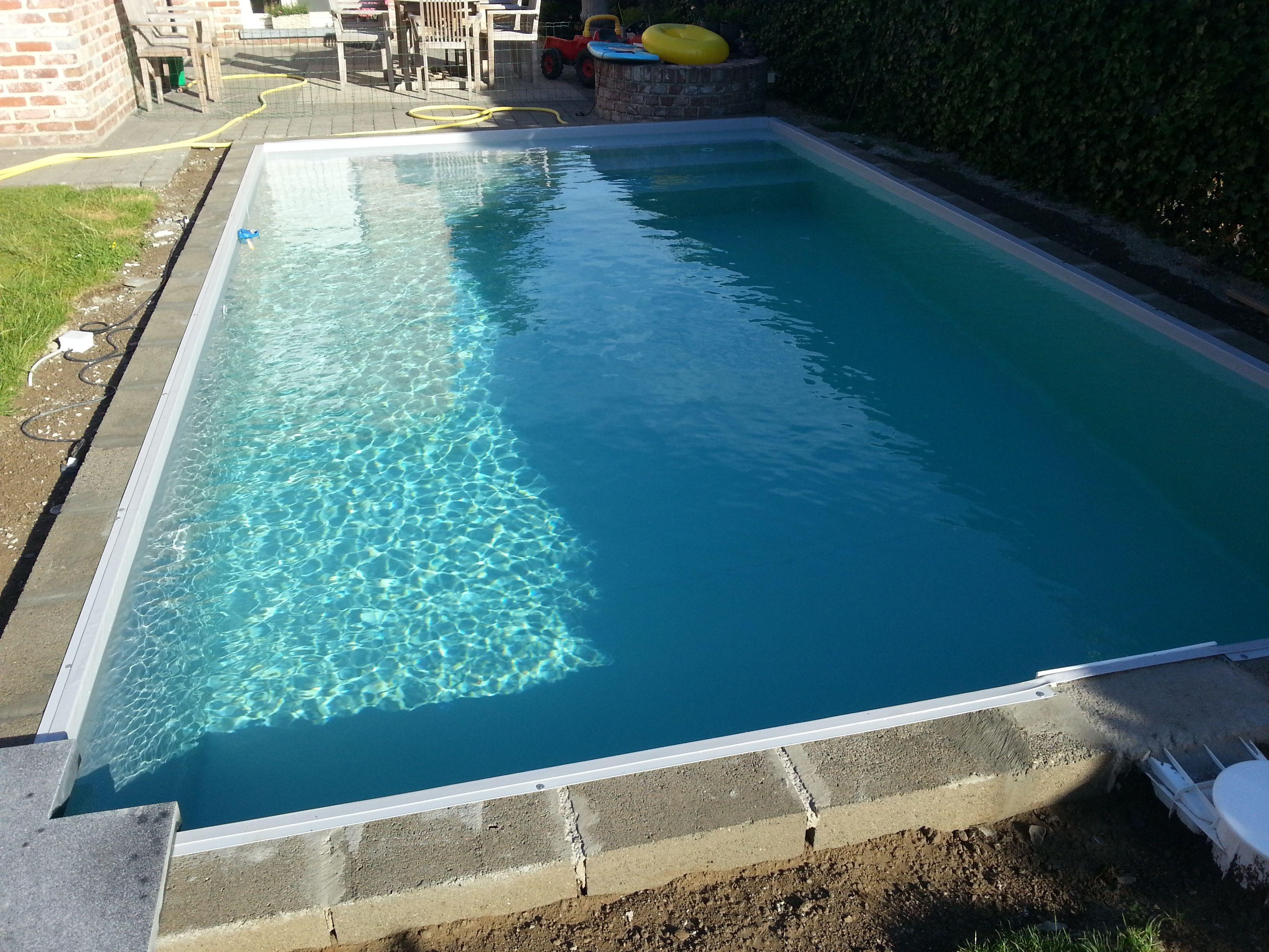 Zwembad met liner elbe grijs zwembaden jr pools