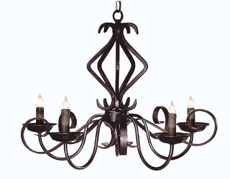 Custom Made Ceiling Lighting Fixtures Hand Forged Iron Chandelier European Style Wrought Candelabra Designed Chandeliers In