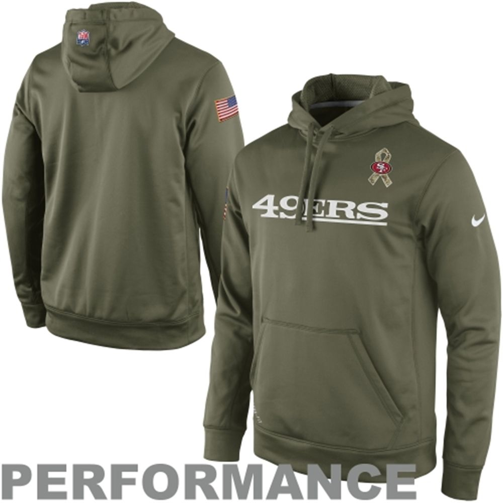 super popular 0289f d8e08 Nike San Francisco 49ers Salute to Service KO Pullover ...