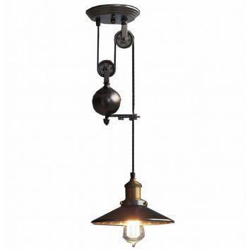 Up and down adjustable edison retro industrial countryside pulley pendant l& light  sc 1 st  Pinterest & Up and down adjustable edison retro industrial countryside pulley ...