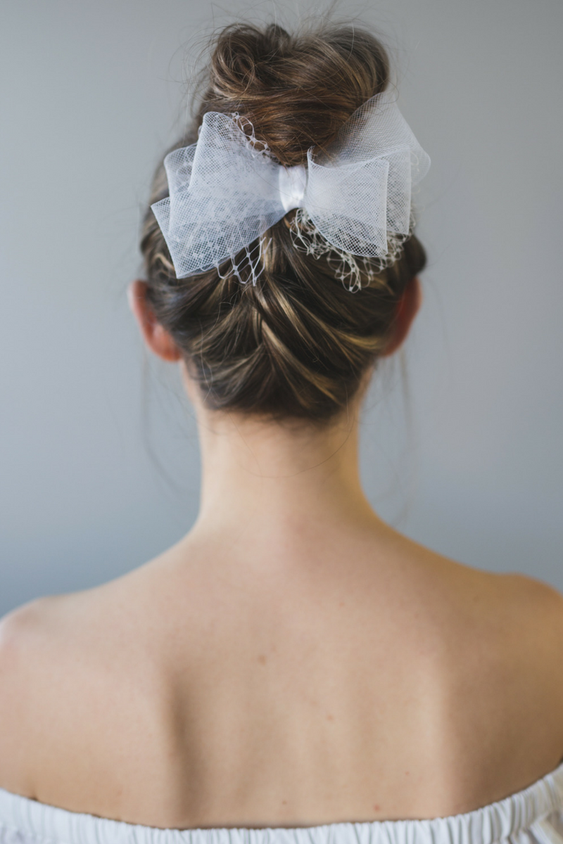 bow hair clip, wedding hair accessories, bridal headpiece