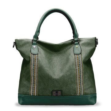 0f28a12622 Brenice Soft Leather Woven Stitching Tote Bag Handbag Large Capacity  Crossbody Bag For Women