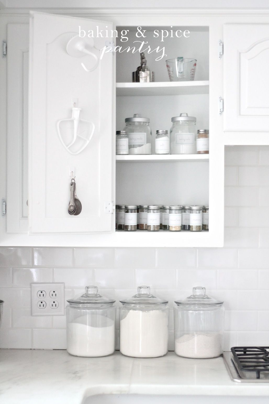 Simple Solutions To Kitchen Organization! Get The Details U0026 Free Printable  Labels For This Baking