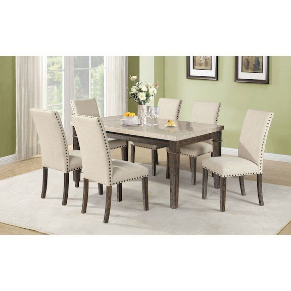 Aldo 7Piece Dining Package  Product Packaging And Accent Pieces Inspiration Dining Room Accent Pieces Decorating Design