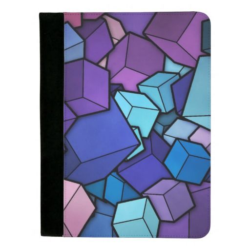 Abstract Cubes Padfolio